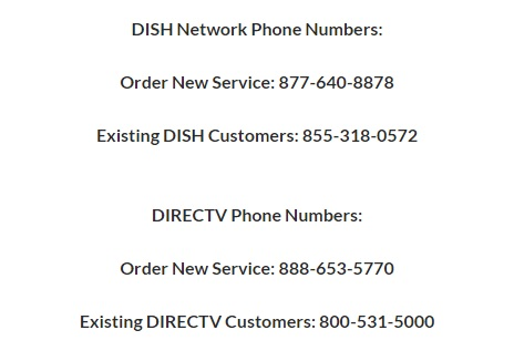 DISH and DIRECTV Phone Number